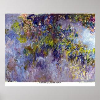 Póster Glicinias de Claude Monet