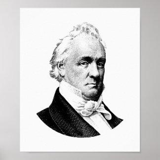 Póster Gráfico de presidente James Buchanan