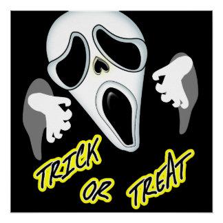 Póster Gráfico fantasmal de la diversión de Halloween del
