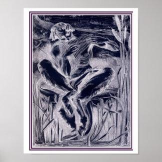 Póster Gran dios Pan-1860 Federico Leighton 11 x 14