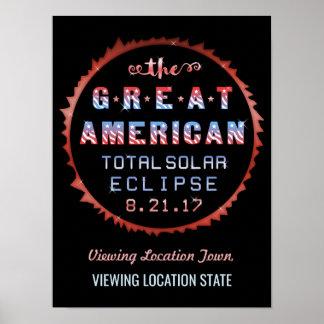 Póster Gran eclipse solar 21 de agosto de 2017 total