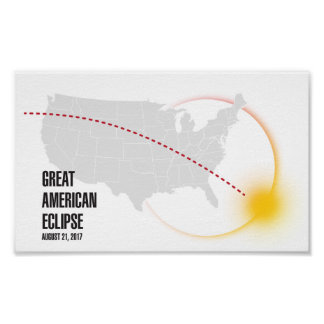 Póster Gran eclipse solar americano 2017