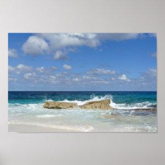 Póster Gran playa de la isleta de Guana, Bahamas