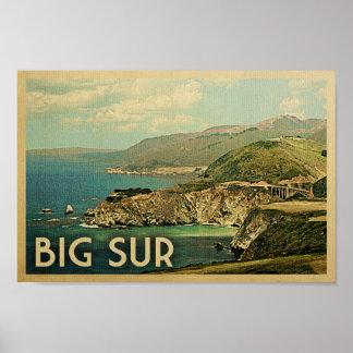 Poster grande de Sur - viaje del vintage de Póster