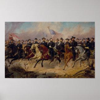 Póster Grant y su pintura de los generales