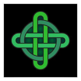 Póster gre irlandés pagano del nudo del símbolo antiguo