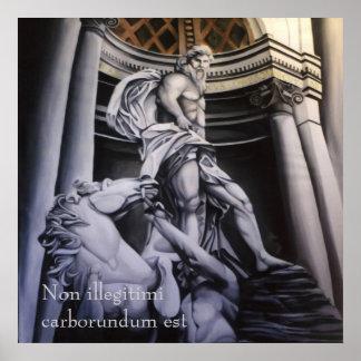 Poster griego/romano heroico de la escena