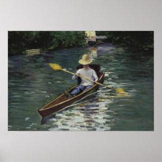 Póster Gustave Caillebotte - canoa en el Yerres