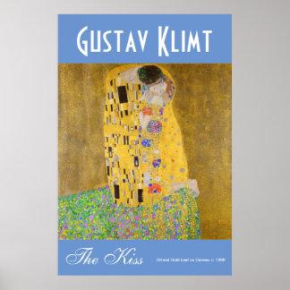 Póster Gustavo Klimt el color vibrante de los amantes del