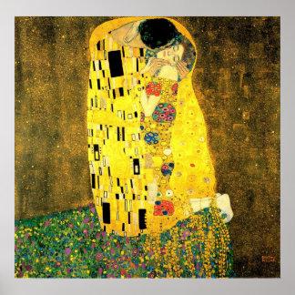 Póster Gustavo Klimt - el poster del beso