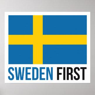 Póster Haga Suecia el gran otra vez #MSGA poster sueco de