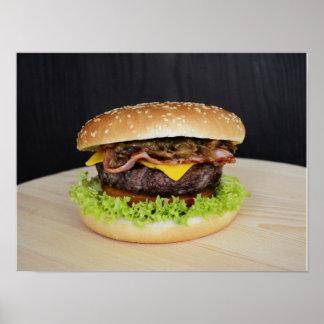 Póster Hamburguesa