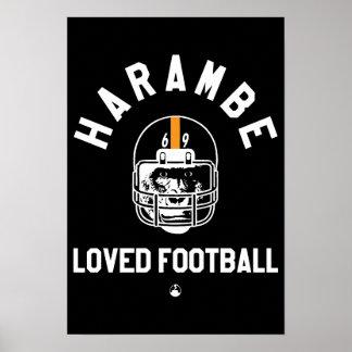 Póster Harambe amó fútbol