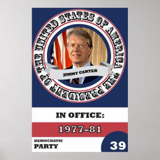 Póster Historia presidencial de Jimmy Carter retra