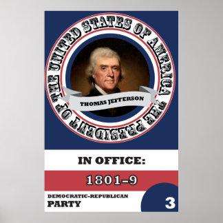 Póster Historia presidencial de Thomas Jefferson