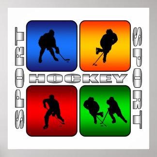 Póster Hockey espectacular