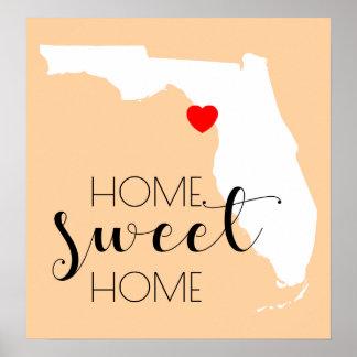 Póster Hogar dulce casero el | la Florida