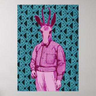 Póster Hombre de antílope
