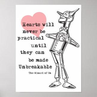Póster Hombre de la lata y corazones poco prácticos