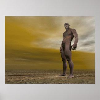 Póster Homo erectus masculino - 3D rinden