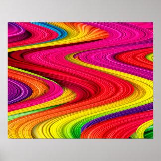 Póster Hora del recreo en poster brillante de los colores