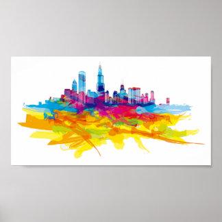 Póster Horizonte colorido fresco de Chicago