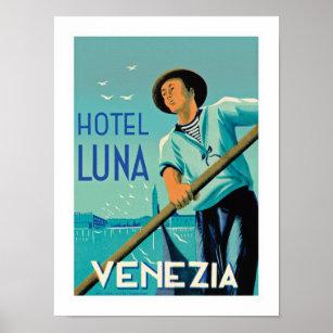 Póster Hotel Luna Venezia