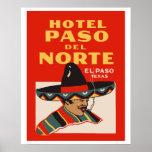 Póster Hotel Paso del Norte (EL Paso - Texas)