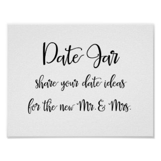 Póster Ideas del tarro de la fecha que casan la muestra