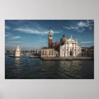 Póster Iglesia Venecia Italia de San Jorge Maggiore