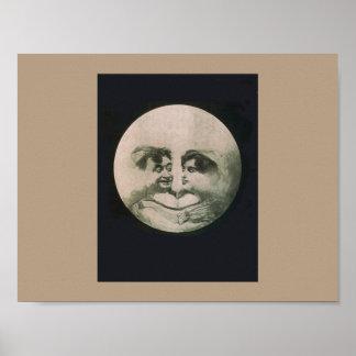 Póster Ilusión óptica de la luna