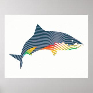 Póster Ilustracion de Swoosh del tiburón