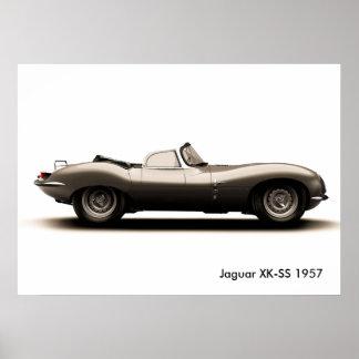 Póster Imagen clásica del coche para el poster