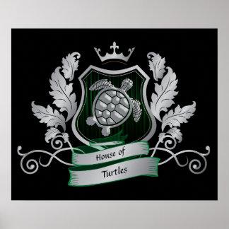 Póster Imagen de la tortuga del escudo de la casa