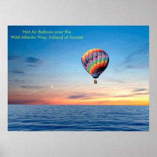 Póster Imagen del globo del aire caliente para el poster