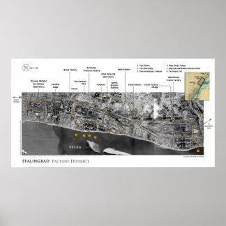 Póster Imágenes de la batalla de Stalingrad en la Segunda