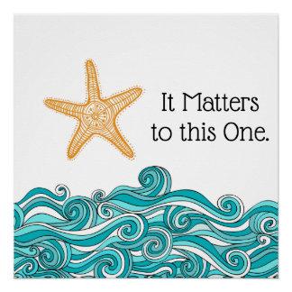 Póster Importa a esta una estrella de mar