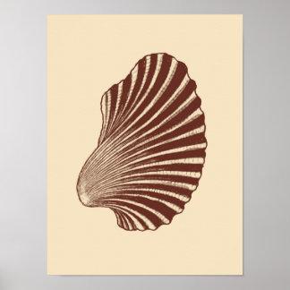 Póster Impresión, Brown y beige de bloque de Shell de