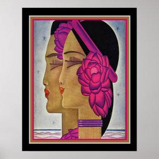 """Póster """"Impresión Ca 1928 16x20 del art déco de la luz de"""