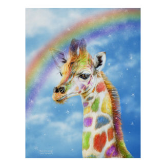 Poster/impresión de la bella arte de la jirafa del