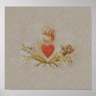 Poster/impresión del ~ del corazón póster