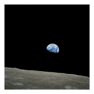 Poster impresión Earthrise - imagen del espacio d