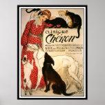 """Poster/impresión: Vintage Steinlen """"clínica Cheron"""