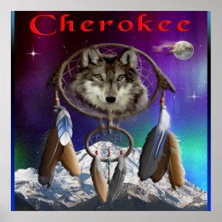 Poster indio cherokee póster