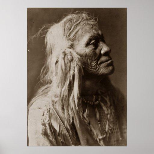 Poster indio del hombre del nativo americano de Lu