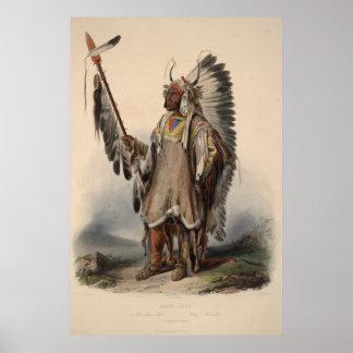 Poster indio del siglo XIX de la reimpresión 36 x