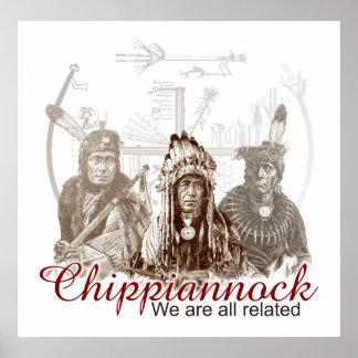 Poster indio nativo americano nos todos relacionan