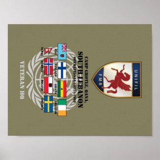Póster Insignia de FMR y poster del HQ del veterano del