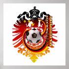 Póster Insignia del fútbol de Eagle Alemania del alemán
