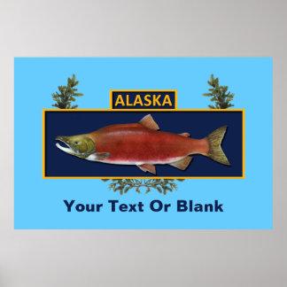 Póster Insignia del pescador del combate de Alaska